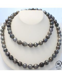 Tahitian Pearl Necklace, 9mm Baroque