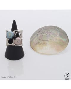 Silver Tahitian Pearl Ring
