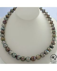Tahitian Pearl Necklace, 9 - 9,9 mm