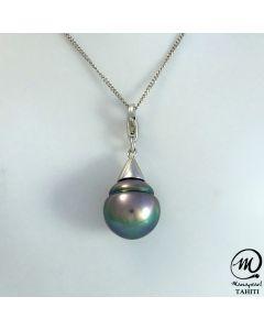 Silver Tahitian Pearl Pendant