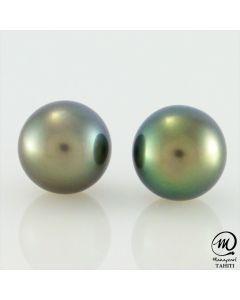 Silver Tahitian Pearl Earring