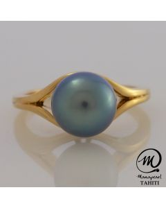 18K Gold Tahitian Pearl Ring