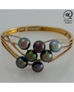 Tahitian Pearl Gold 18K & Diamond Bracelet