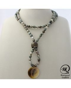 Tahitian Keshi Long Necklace