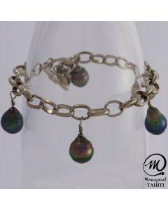 Bracelet breloque Ag 5p
