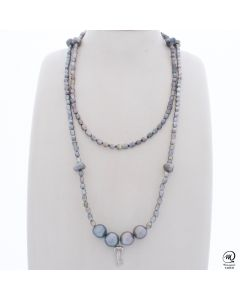 Tahitian Pearl Keshis Long Necklace