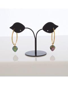 18K Gold Tahitian Pearl Earring