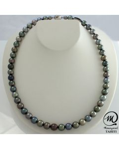 Tahitian Pearl Necklace 8 mm Round Pearl by MANAPEARL