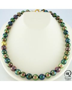 Tahitian Pearl Necklace Choker, Round pearl