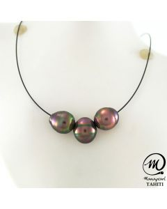 Wire Tahitian Pearl Necklace