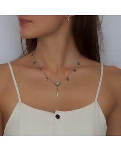 Tahitian Keshis Silver Chain