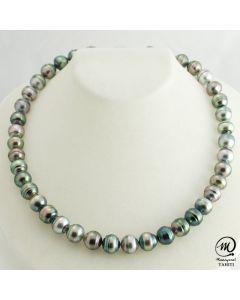 Beautiful Tahitian Pearl Necklace Choker, 10 mm Baroque Pearl