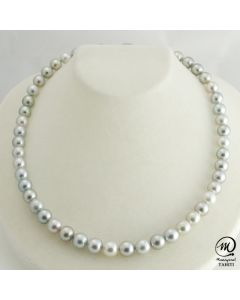 Beautiful Tahitian Pearl Necklace Choker, 8 mm Round Pearl