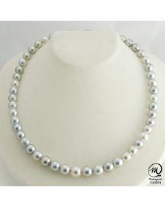 Beautiful Tahitian Pearl Necklace Choker, 8 mm Round Pearl
