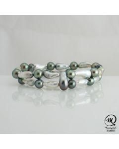 Tahitian Pearl Bracelet 7mm Round Pearl